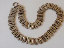 ANTIQUE VICTORIAN SILVER ENGRAVED LOCKET COLLAR/NECKLACE  C. 1880