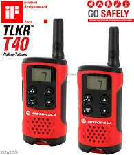 4km Motorola TLKR T40 2 Way Walkie Talkie Compact Set PMR 446 Radio Kit - 2 Pack
