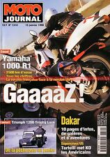 MOTO JOURNAL 1310 Road Test YAMAHA 1000 R1 HONDA XLR 125 R TRIUMPH Trophy DAKAR