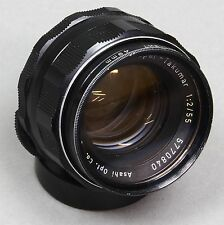 ASAHI PENTAX SUPER-TAKUMAR 50mm f/2 LENS M42 UNIVERSAL SCREW MOUNT Excellent