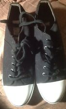 New Levi's Men's Size 13 Black Canvas Low Top Sneakers Shoes - Free Shipping!!