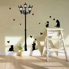 Newest Beauty Cat Animals Wall Stickers For Family Room Walls Decor Wall Painted