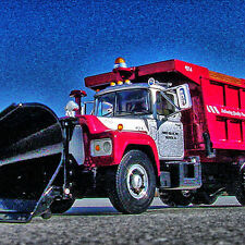 HTF CHOICE - FIRST GEAR SHOWTRUCK -  R MACK DUMP with SNOW PLOW -  First Gear