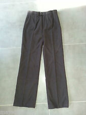 ZARA WOMAN Pantalon femme tailleur texturé noir taille 40 rare TBE