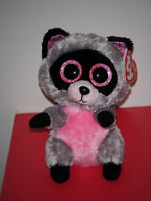 "Ty Beanie Boos ~ ROCCO the 6"" Raccoon ~ NEW ~ MINT with MINT TAGS"