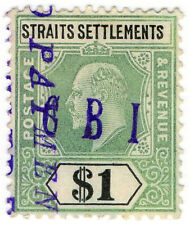 (I.B) Malaya (Straits Settlements) Revenue : Duty Stamp $1 (CBI pre-cancel)