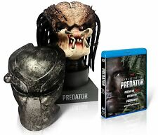 The Movie Predator Head Statue Mask 4 Blu-Ray Set 1500 Limited Edition Used