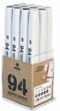 MTN 94 - GRAPHIC INK DRAWING MARKER PEN SET - 12 GREY COLOURS