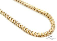 Chain 10k Yellow Gold 24inches 3mm franco Necklace Link 14.12 grams