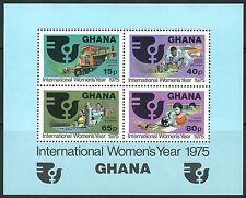 Ghana - Internationales Jahr der Frau postfrisch 1975 Block 61 Mi.Nr. 609-612