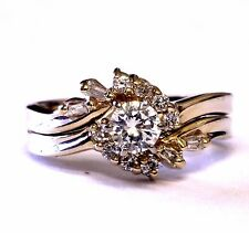 14k yellow gold .44ct diamond engagement ring wedding band 4.5g vintage estate