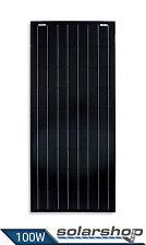 SOLARMODUL MONOKRISTALLIN 100W-12V FULL BLACK EDITION SOLARPANEL CAMPING NEU