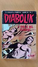 DIABOLIK anno IX n. 1  L'isola del terrore  ORIGINALE  Sodip 1970