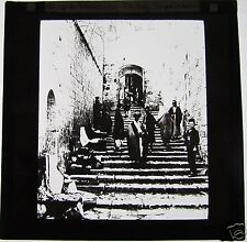 Glass Magic Lantern Slide STEPS LEADING TO HOLY SEPULCHRE C1910 ISRAEL