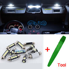 12pcs Premium LED Interior SMD Bulbs Kit White Error Free For Renault Megane 3 L