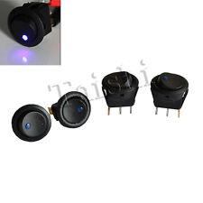 4X KFZ Wippschalter rund EIN/AUS 12V mit roter LED beleuchtet / 12 Volt Schalter