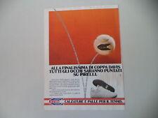 advertising Pubblicità 1985 PALLE DA TENNIS PIRELLI