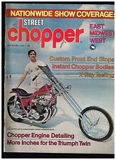 STREET CHOPPER JULY 1972 SEE CONTENT AEE 70's STYLE CUSTOM CHOPPERS TECH TIPS