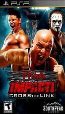 TNA Impact: Cross the Line, Very Good Sony PSP, Sony PSP Video Games