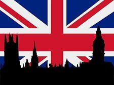 7,2x5,4cm Aufkleber Grossbritannien Union Jack London Autoaufkleber car Sticker