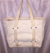 pre-loved authentic John Varvatos tan leather TOTE Totebag RETAIL $1200