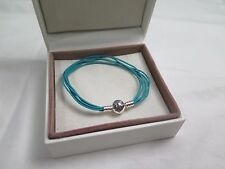 New Pandora Teal Med  Multi Strand Cord Bracelet 590715CTUM M2 Gift set option