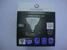 Green Creative PAR38-E26 Titanium LED Series 2.0 Light Bulb 20W 25 Degree 2700K