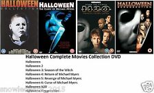 HALLOWEEN COMPLETE DVD COLLECTION Part 1 2 3 4 5 6 7 8 UK ALL 8 FILMS MOVIES NEW