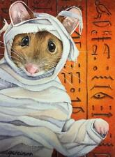 ACEO Limited Edition Print Halloween Costume Egyptian Mouse Mummy by J. Weiner