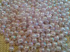 Lot 500 Perles rondes violet mauve nacré en plastique bijoux bracelet collier