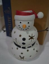 RETIRED Santa Snow Tealight Holder P91946  NEW IN BOX Add piece to Family Jr Mrs
