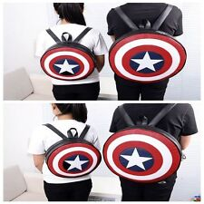 Unisex Avengers Captain America Shield Backpack Popular Student Book School Bag