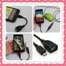 Micro USB OTG Cable - Attach Pendrive, Keyboard, Mouse, To Mobiles / Tablets