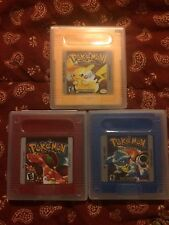 Gameboy Pokemon lot! - Yellow, Red, & Blue ALL TESTED GBC Color Nintendo