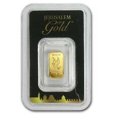 1 Gram Israel Holy Land Mint Dove Solid Fine 999.9 Gold Bullion Bar Sealed