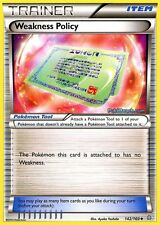 WEAKNESS POLICY 142/160 - PRIMAL CLASH POKEMON REV HOLO TRAINER CARD NEW MINT