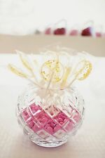 12 HANDMADE LOLLIPOPS WITH GOLD EDIBLE STARS ~ HARD CANDY
