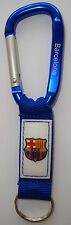 Barcelona Keychain, Carabiner, with PVC logo and Engraved, Messi, Neymar, Suarez