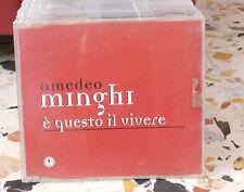 AMEDEO MINGHI - E' QUESTO IL VIVERE - cd singolo slim case COPIA CAMPIONE 1998