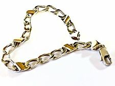 "Tiffany & Co 18k Yellow Gold Sterling Silver Curb Link Bracelet 7.5""L - 11.8 gr."