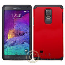 Samsung Galaxy Note 4 Advanced Armor Case-Red Black Shell Protector Guard Shield