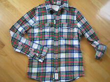 Abercrombie Muscle Flanel Plaid Button Down Long Sleeve Boys Shirt Sz Large