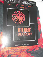 Game of Thrones  house of  Targaryen bed throw blanket  fleece