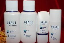 OBAGI FOAMING GEL TONER EXFODERM FORTE HYDRATE FULLSIZE SEALED AUTHENTIC SET KIT