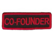 CO - FOUNDER  MOTORCYCLE CLUB - RED ON BLACK  PATCH