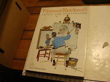 vintage large book: NORMAN ROCKWELL ARTIST abrams 1971 w fold out illustrations