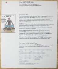 1984 STEVE JOBS Macintosh 128K 1st Mac M0001 MacWorld Offer Sheet UNUSED! RARE