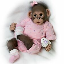 Zoey, Monkey Baby Doll with Pacifier by Ashton Drake