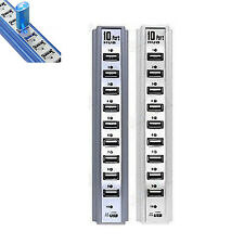 High New Quickly Speed 10 Port USB 2.0 Hub Multi Outlet Power Strip Type Hot