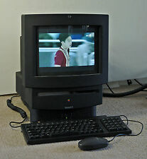 Vintage 1994 Apple Macintosh TV - WORKING + matching Black Kybd, Mouse, & Remote